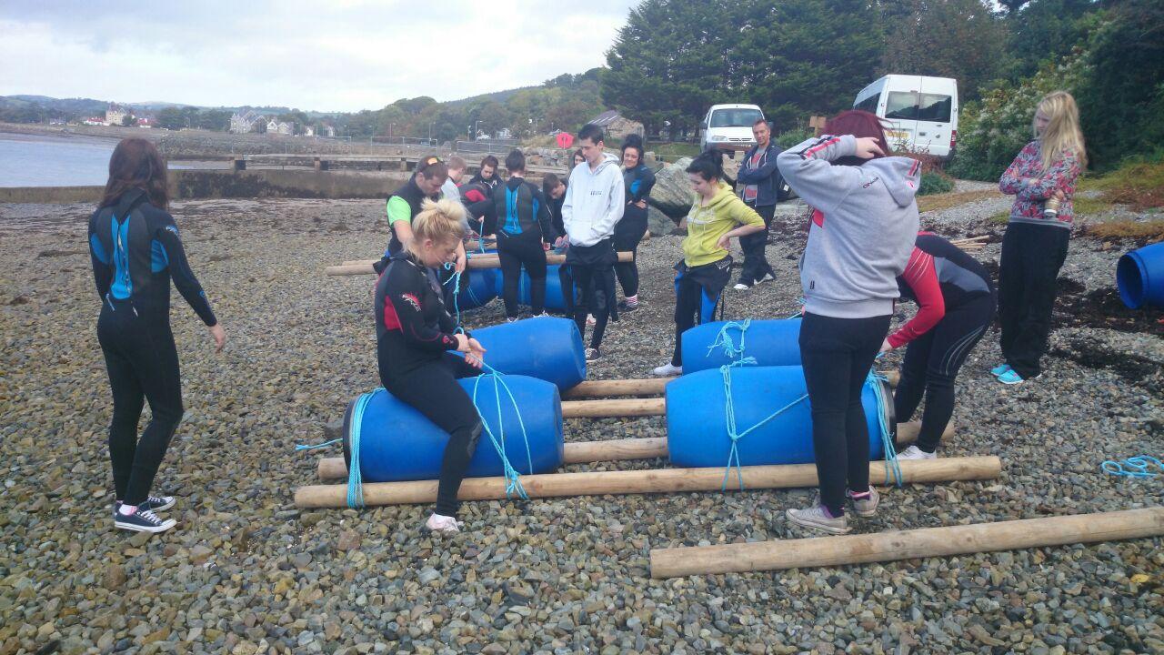 Schools raft building